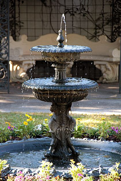 Perfect Use A Smaller Tiered Fountain Inside A Pond To Make It Appear Larger?  Quarter Circle