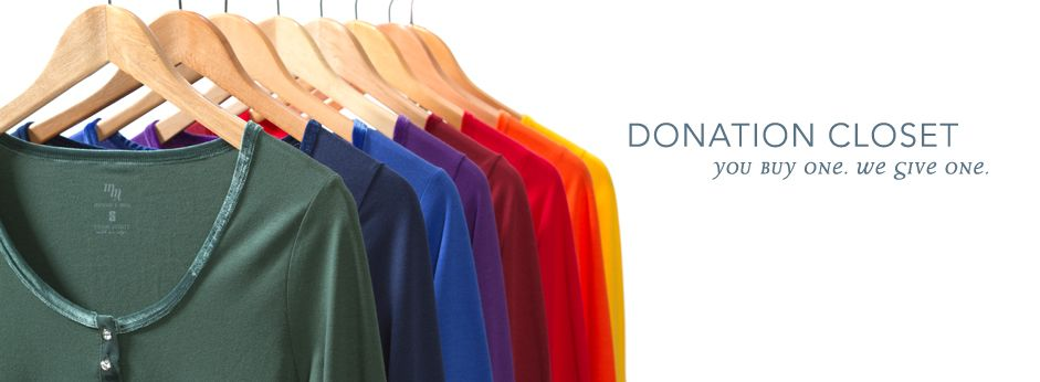 """""""Providing clothing to those in need, when they need it most"""" - Meesh & Mia's Donation Closet"""