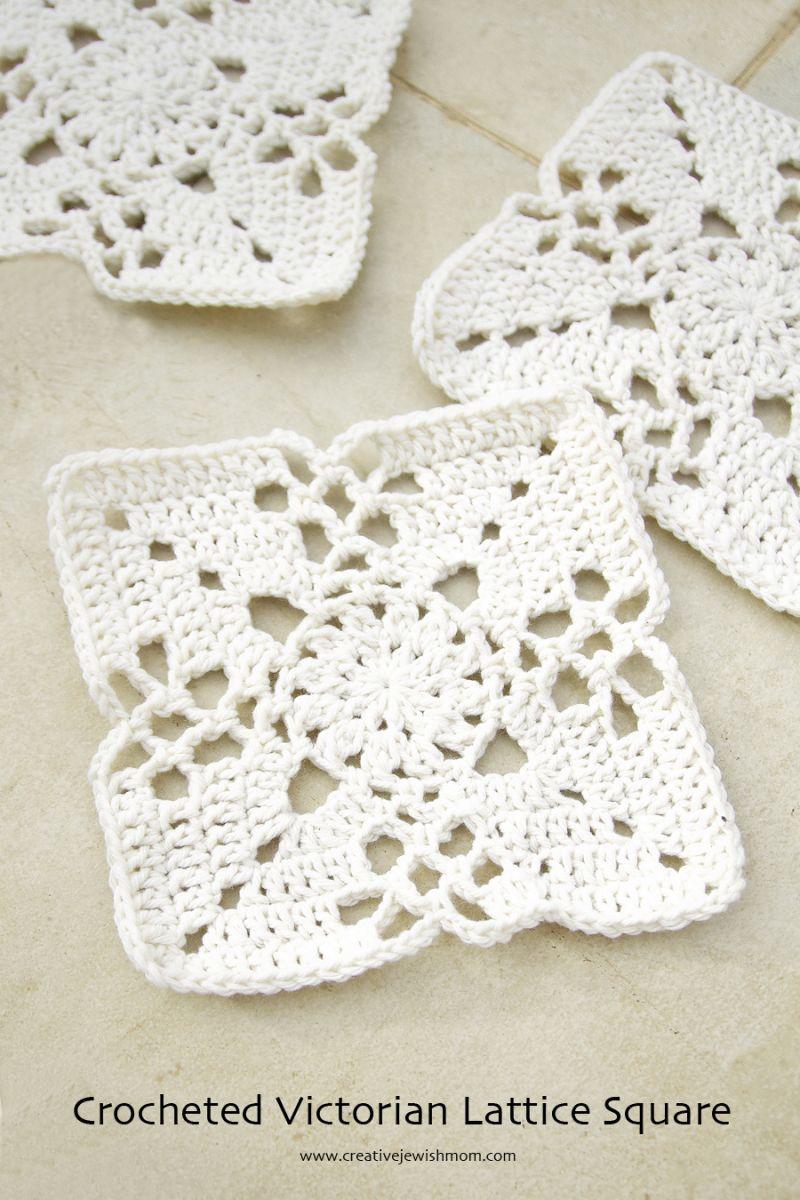 Crocheted Victorian Lace Square | Crochet | Pinterest | Ganchillo ...