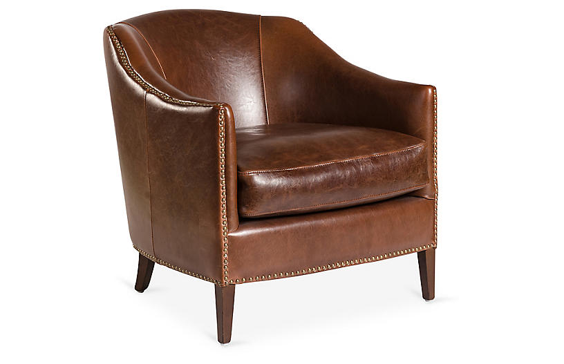 Best Madison Leather Club Chair Saddle Accent Chairs 640 x 480