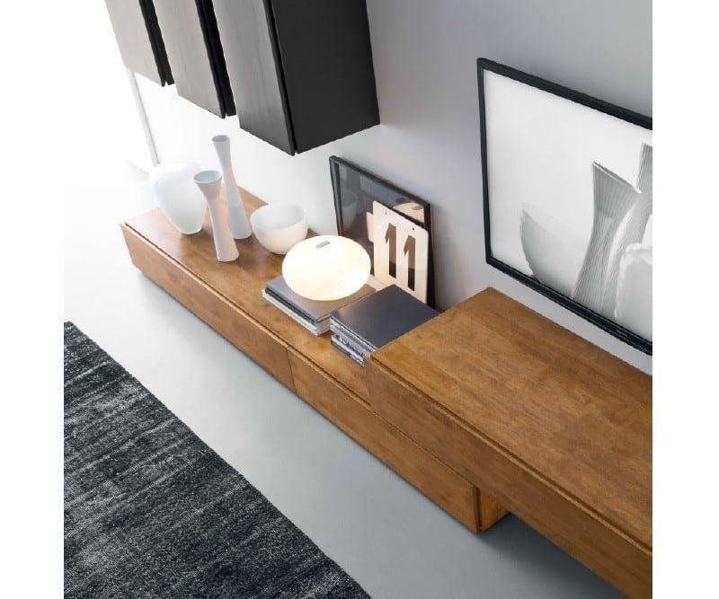 Minimalistische Wohnzimmer Bilder FGF MOBILI WOHNWAND C14B - raumdesign wohnzimmer
