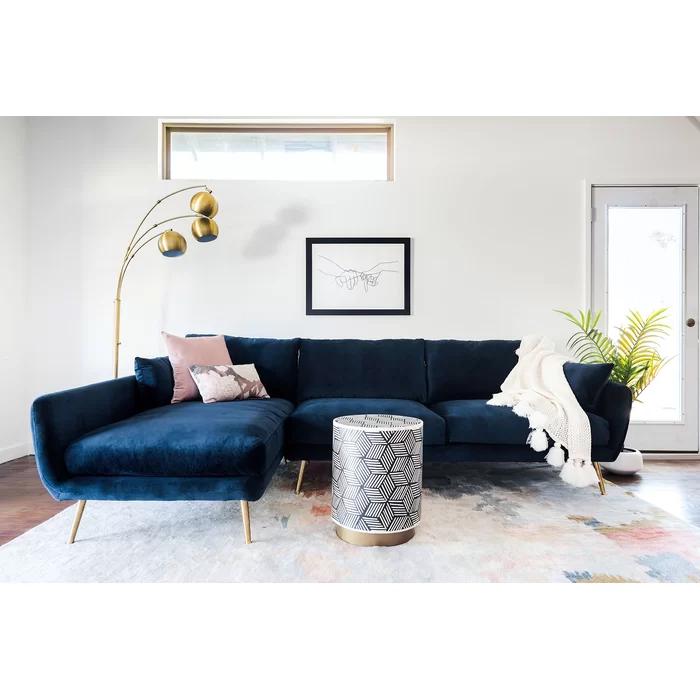 Coleshill Sectional Reviews Allmodern Blue Sofas Living Room Blue Living Room Sectional Sofa