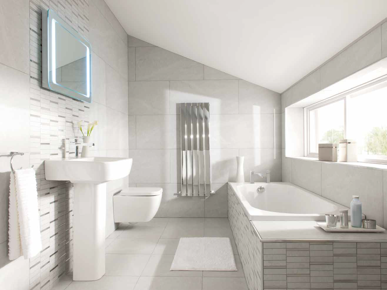 Awesome With An Awkwardly Shaped Bathroom Like This It Can Be Tough To Figure Out  What Design