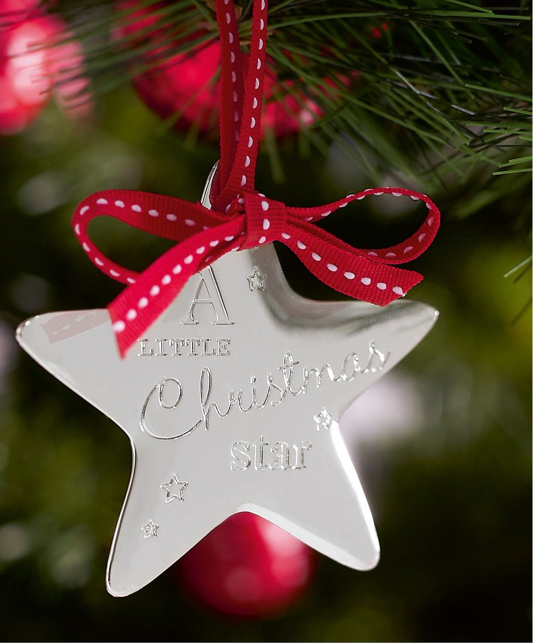 silver plated hanging star decoration christmas mamas papas star decorations christmas decorations - Silver Plated Christmas Tree Decorations