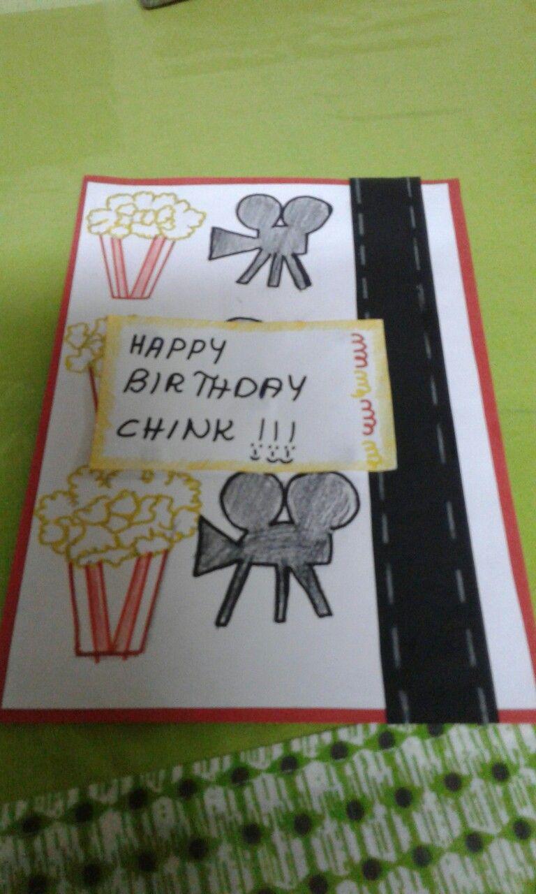 Movie Themed Dyi Birthday Card Birthday Cards Cards Birthday