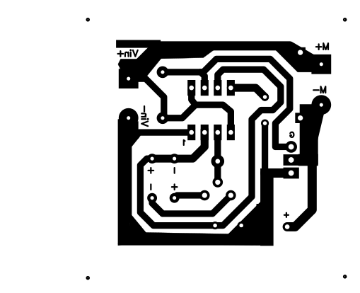 NE555 DC Motor Speed Controller PCB Layout Copper Side | Electronics ...