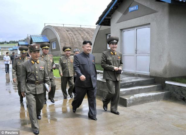 Tour of the mushroom farm: The series were released by North Korea's Korean Central News Agency