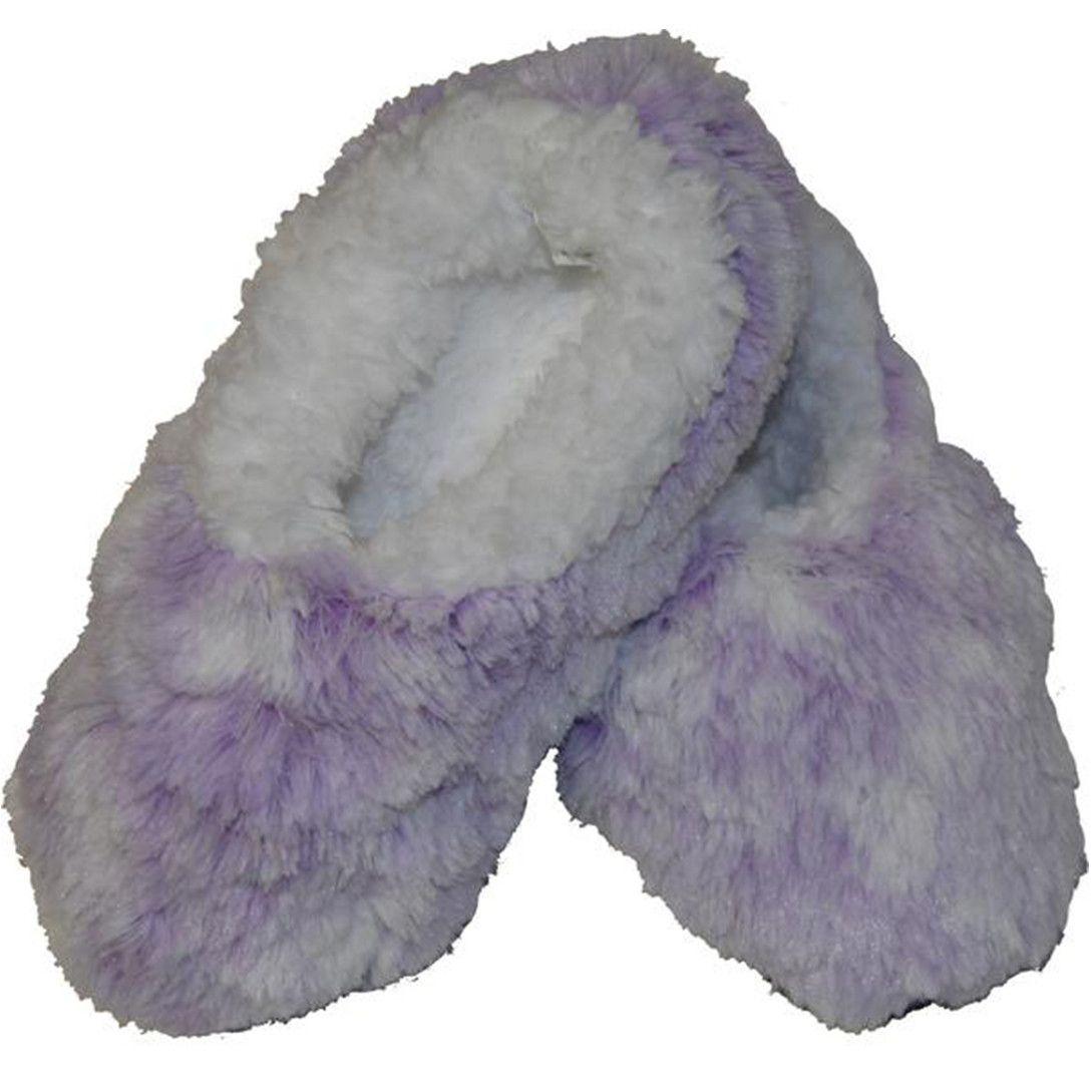 Snoozies Kid's Velvety Plush Fur Fleece Footies