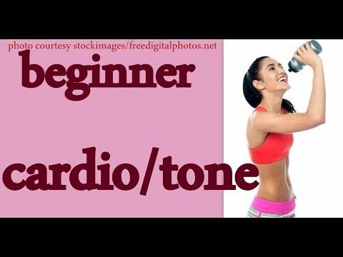 beginner cardio  tone / low impact weight loss exercise
