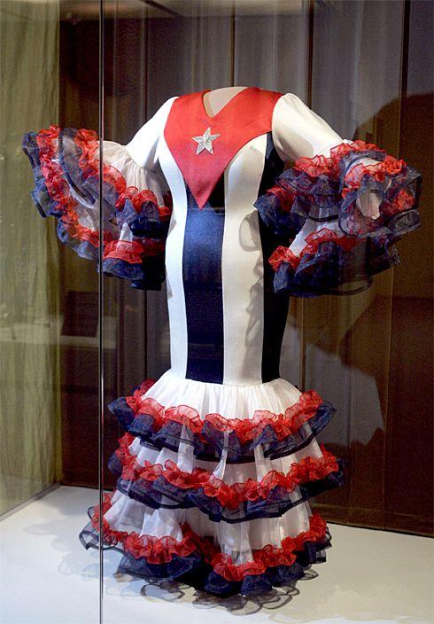 Celia Flag Vestido De Bandera Cruz Dress E9HD2I