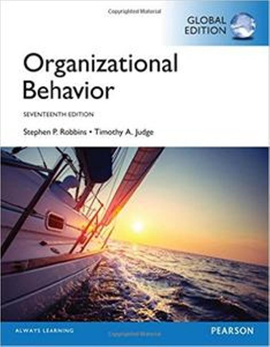 Organizational behaviour stephen robbins chapter 1.
