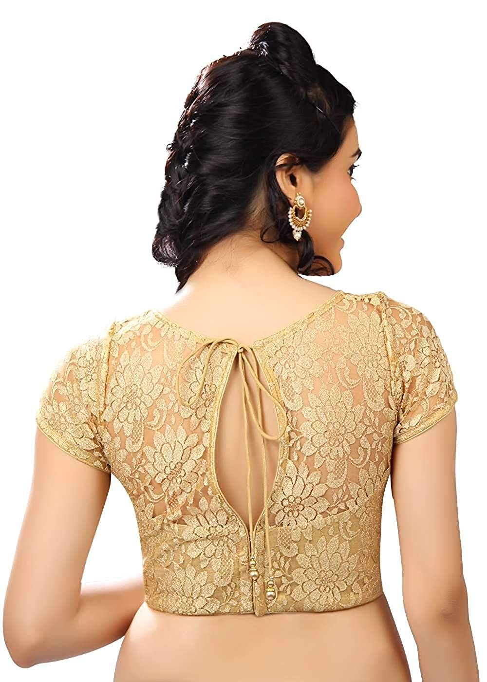 15283be035a00d Vamas Net Back Open Hooks Half Sleeves Saree Blouse (Vdb_X-269Sl): Amazon.in:  Clothing & Accessories