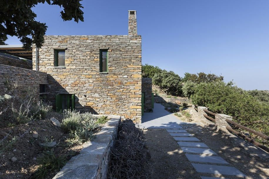 house, tzia, aegean sea, a2 architects, stone, traditional, minimalism, greek architecture, white, plaster, contemporary architectue greece #gothicArchitecture #aegeansea