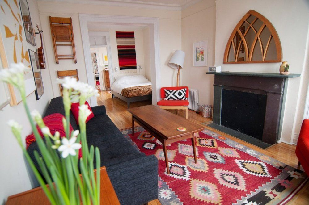 Alana S Brooklyn Railroad Railroad Apartment Minimalist Living Room Decor Industrial Style Living Room