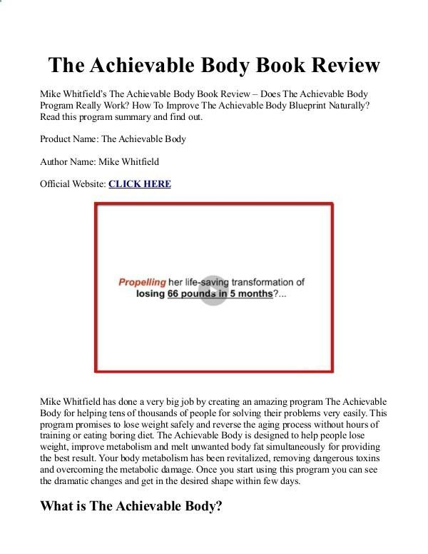The achievable body pdf ebook is mike whitfield blueprint free the achievable body pdf ebook is mike whitfield blueprint free download malvernweather Images