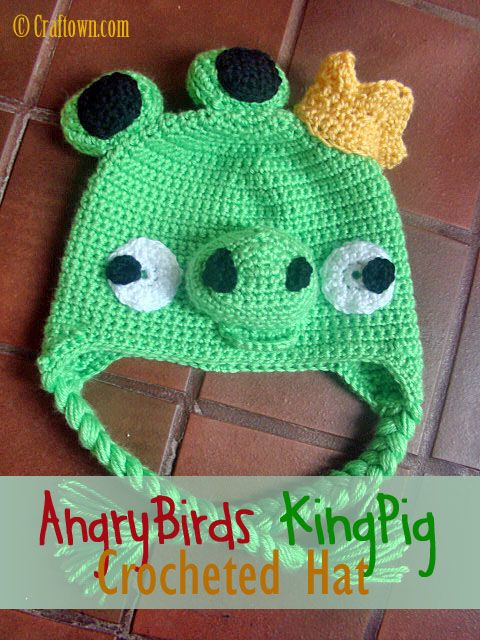 Angry Birds Crocheted Hats are very popular! Make one for your Angry ...