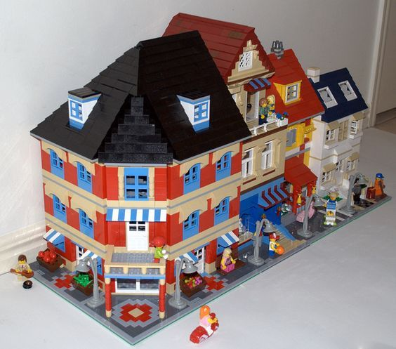 Lego Street #legohouse #legoshop: