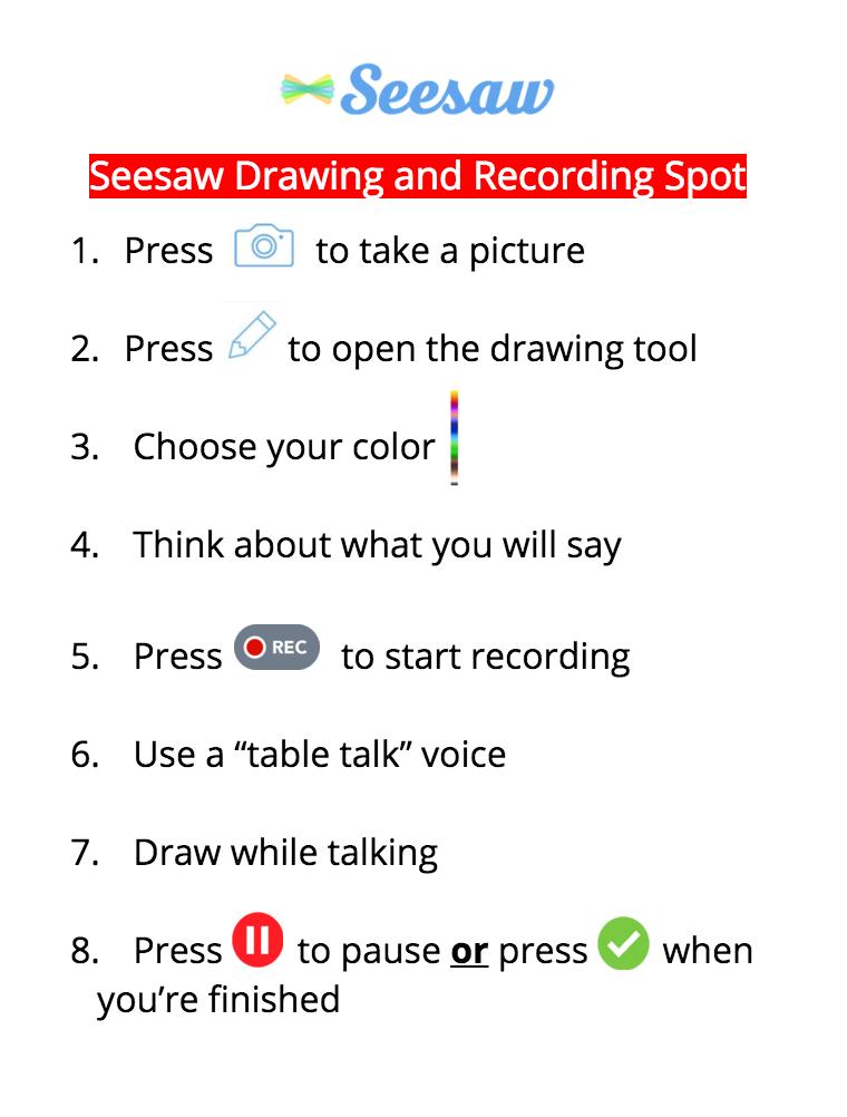 Classroom recording spot poster