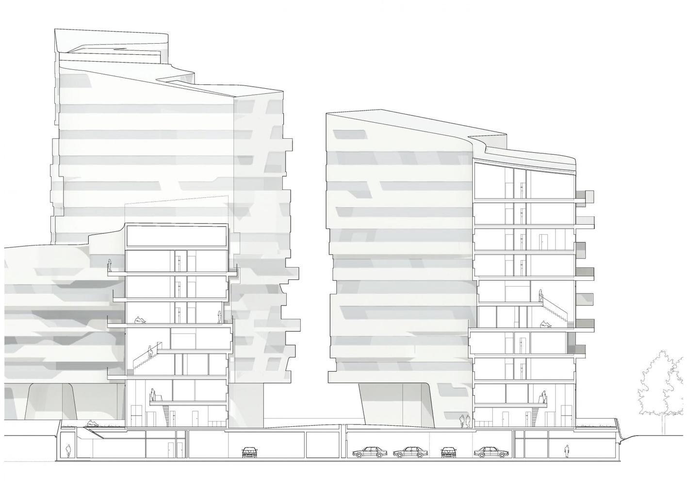 Galeria De Citylife Milano Zaha Hadid Architects