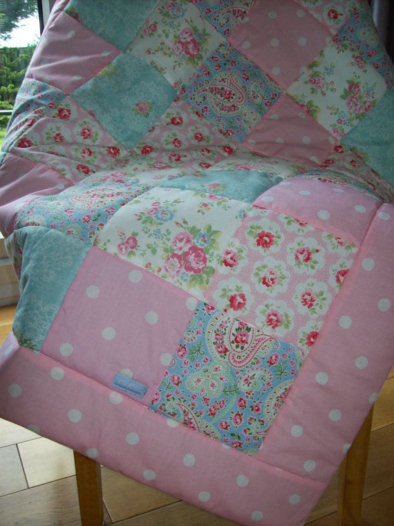 Cath Kidston Baby Quilt Cot bed Quilt Shabby Chic by traceym3859 ... : shabby chic baby quilt - Adamdwight.com