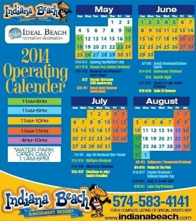 Indiana Beach calendar | Favorite Places & Spaces | Indiana