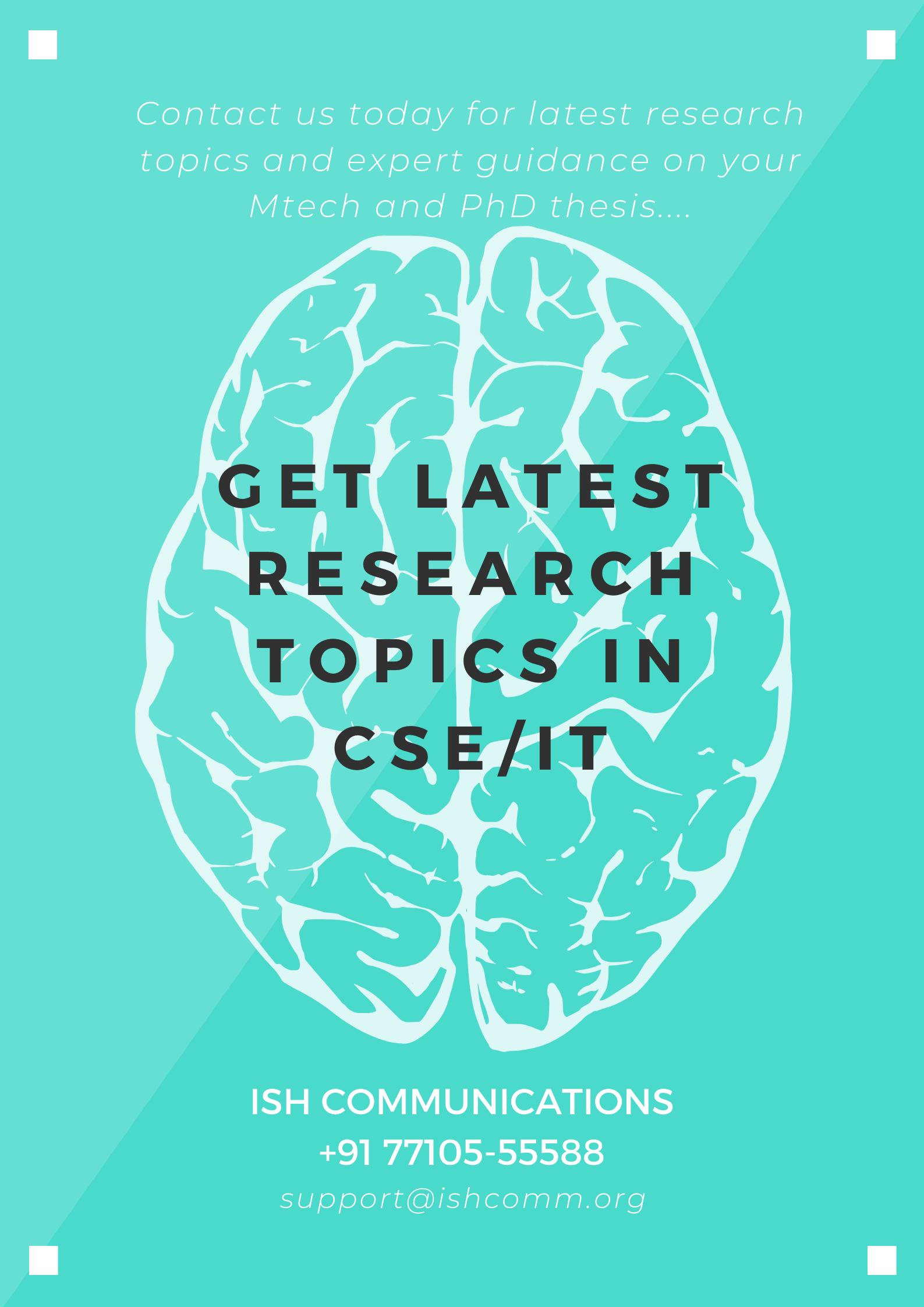Cse It Research Topic Data Mining Phd Machine Learning Cloud Computing Dissertation Topics