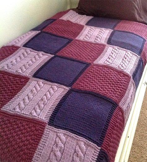 Easy Afghan Knitting Patterns   Pinterest   Manta, Tejido y Dos agujas
