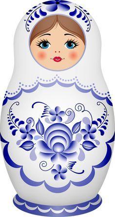 Russian Dolls, Matrioshka, Clipart, Album, Matroschka, Matryoshka Russa - Pesquisa Google