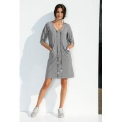 Photo of Amy Vermont, jersey dress with sequins in the front, gray Amy Vermont