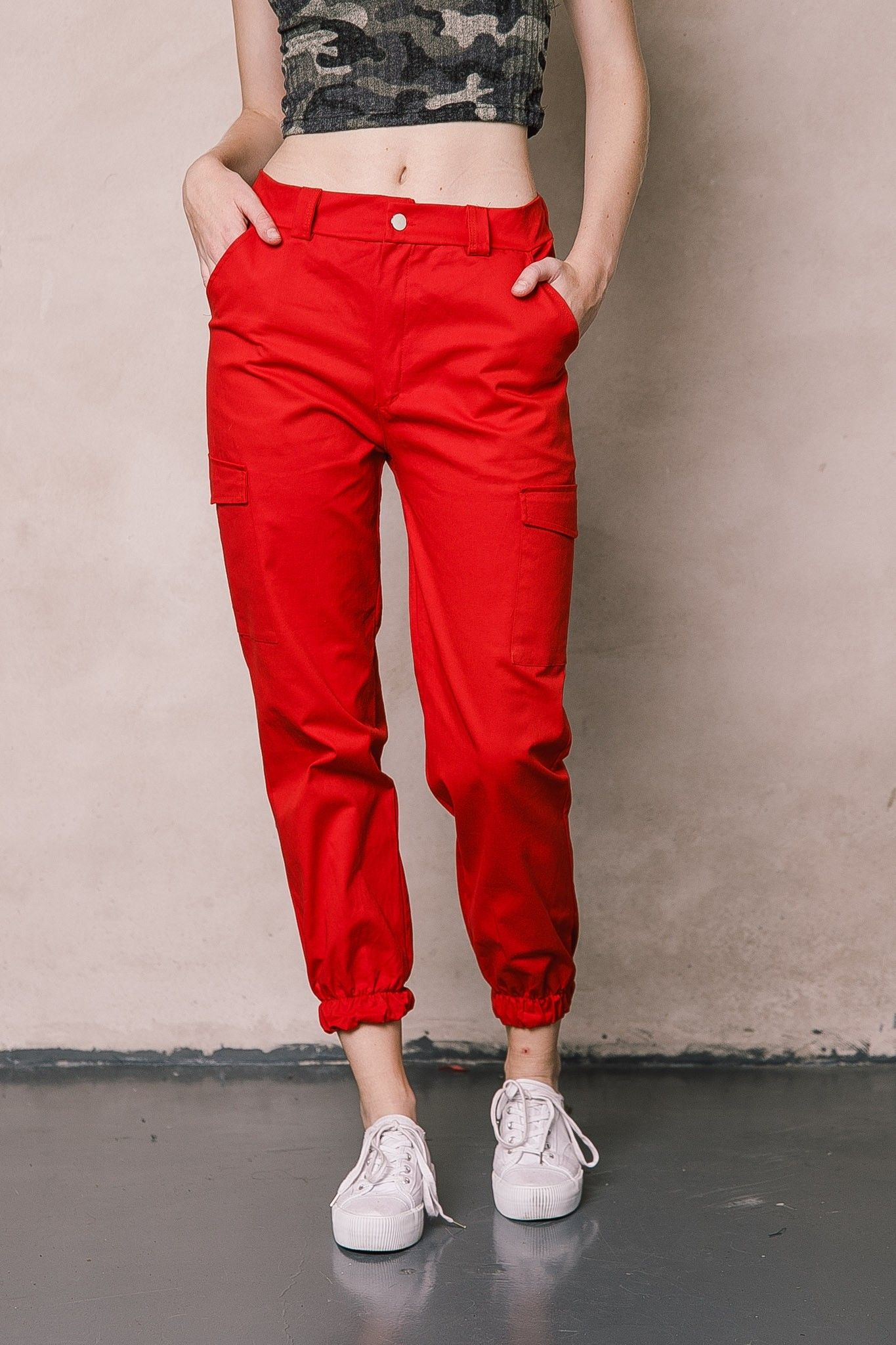 19inp030 Pantalon Cargo Nina Pantalones Con Bolsillos Pantalones Pantalones Mujer