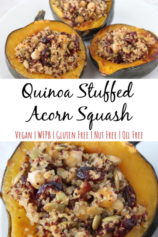 Quinoa Stuffed Acorn Squash Recipe Acorn Squash Recipes Acorn