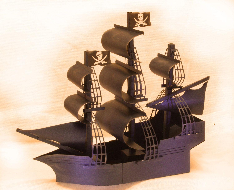 3D SVG Pirate Ship Galleon DIGITAL download Pirates