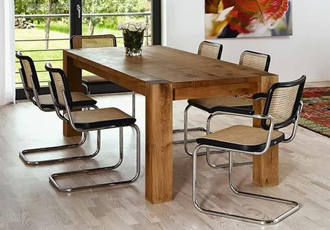 Cesca chair with dark and solid wooden table Home Pinterest - segmüller küchen mannheim