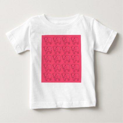 Teddies painted Pink sweet Design Baby T-Shirt - kids kid child gift idea diy personalize design