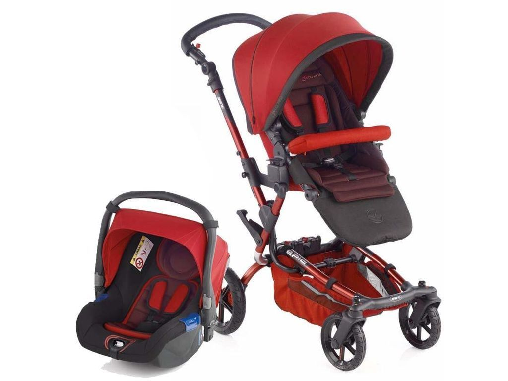 Jane Epic Koos Travel System in Red Baby strollers
