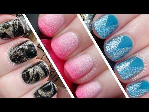 3 Textured Polish Nail Art Designs Simple Easy Nail Art For