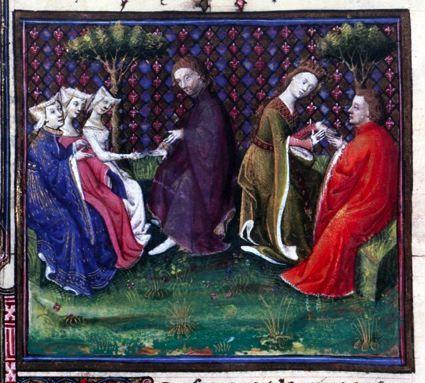 Lancelot et Guenièvre (Lancelot du lac, Ms Fr118) - M. des cleres femmes - Utpictura18