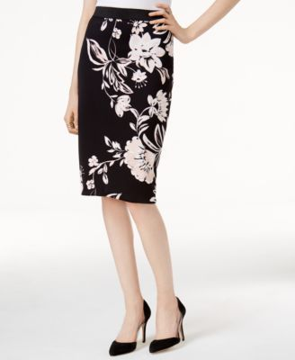 195a21f63e Alfani Petite Printed Pencil Skirt, Only at Macy's | macys.com ...