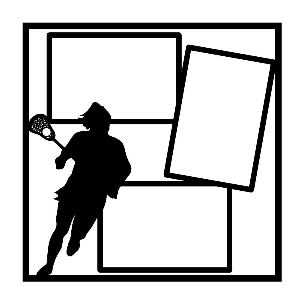 girls lacrosse scrapbooking die cut overlay [ 1014 x 1014 Pixel ]