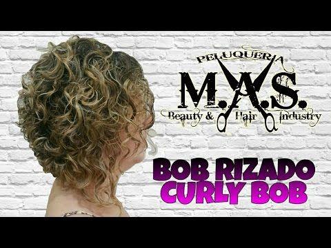 Como cortar un BOB, cabellos peinados con rizos.Tutorial paso a paso.How to curly BOB haircut - YouTube