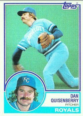 Dan Quisenberry Royals Topps Baseball Card Google Search Baseball Cards Royals Mlb Kansas Royals