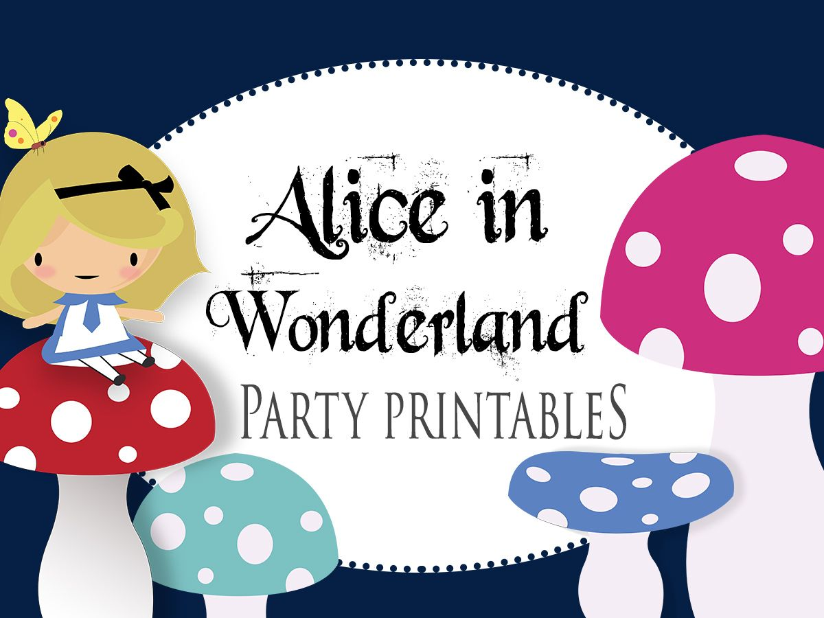 Alice In Wonderland Party Games Themes And Printables