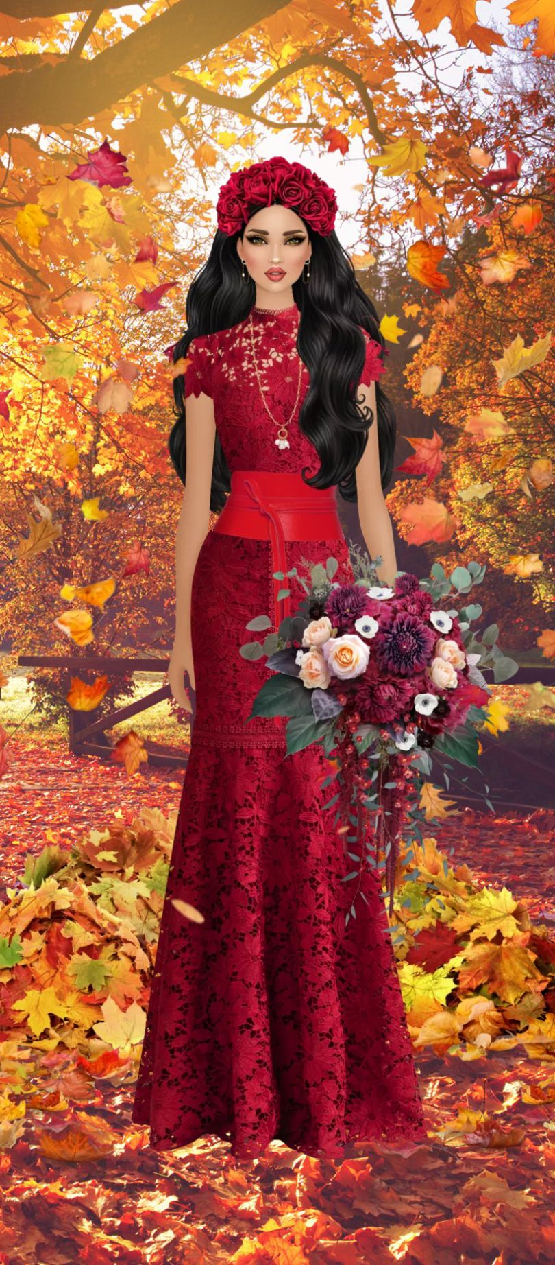 Pin By Felice Navidad On Fantasy Story In 2020 Red Dress Bride Dresses