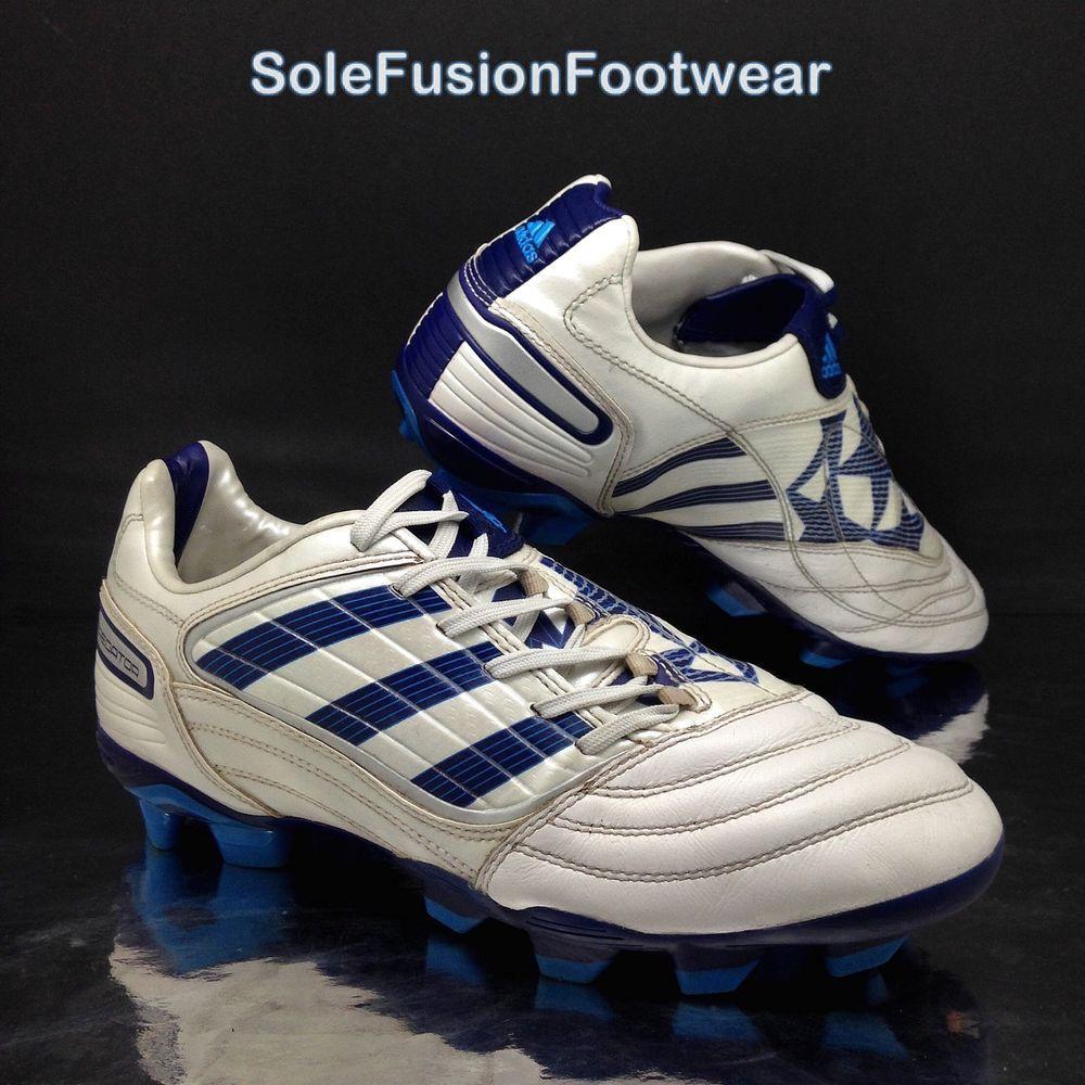 adidas mens predatore scarpe da calcio bianco / blu xtrx dimensioni 7 ag