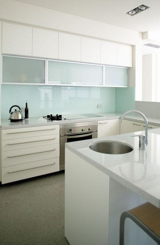 Glass Kitchen Backsplash White Cabinets curtin avenue residenceoptimum resource architects | kitchens