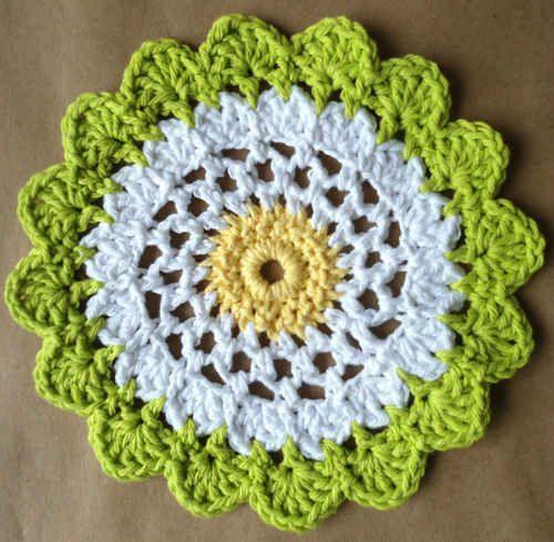 MoonFlower Dishcloth: free crochet pattern | crochet | Pinterest ...