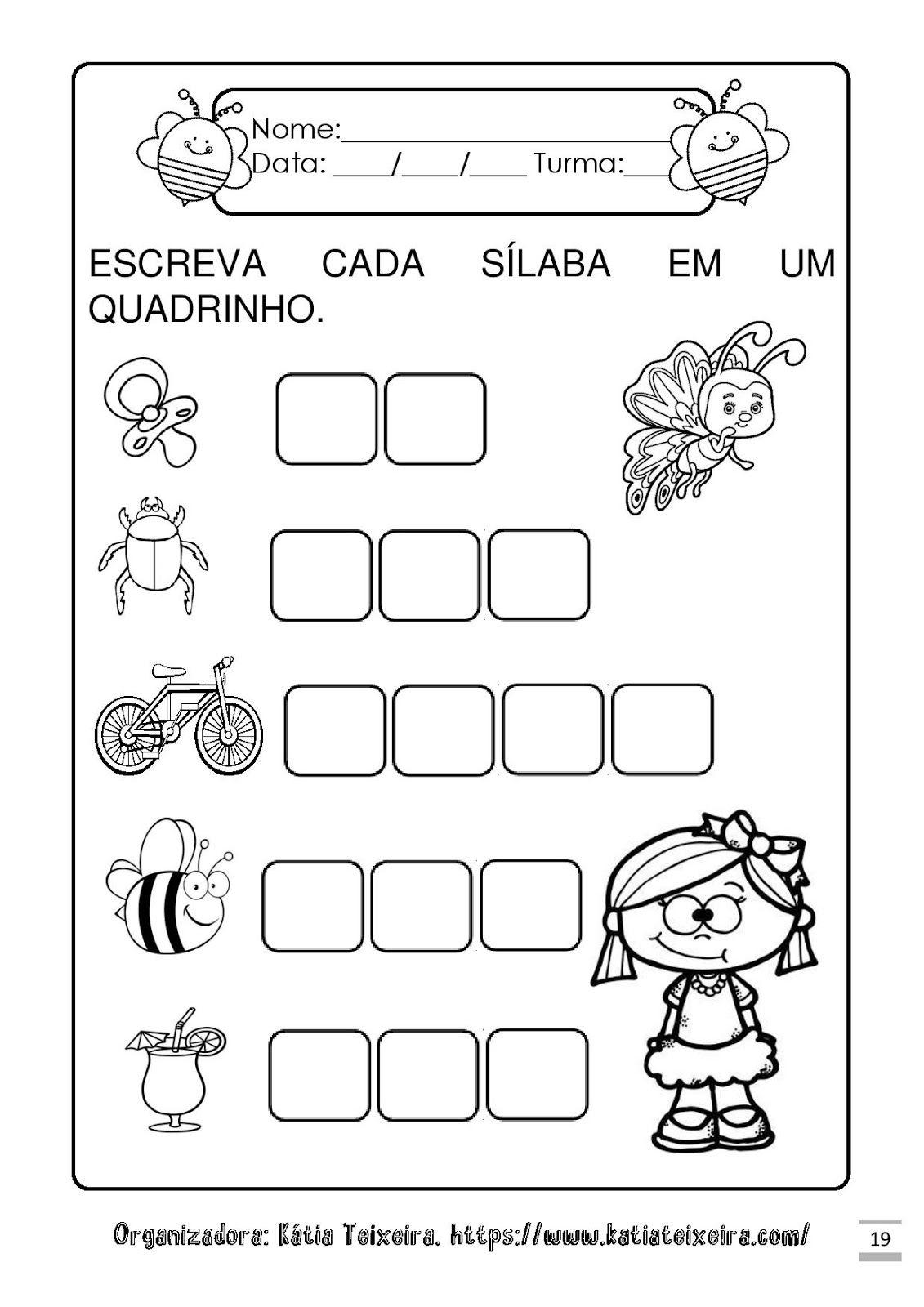 Atividades Para Alfabetizacao Letra B Com Imagens