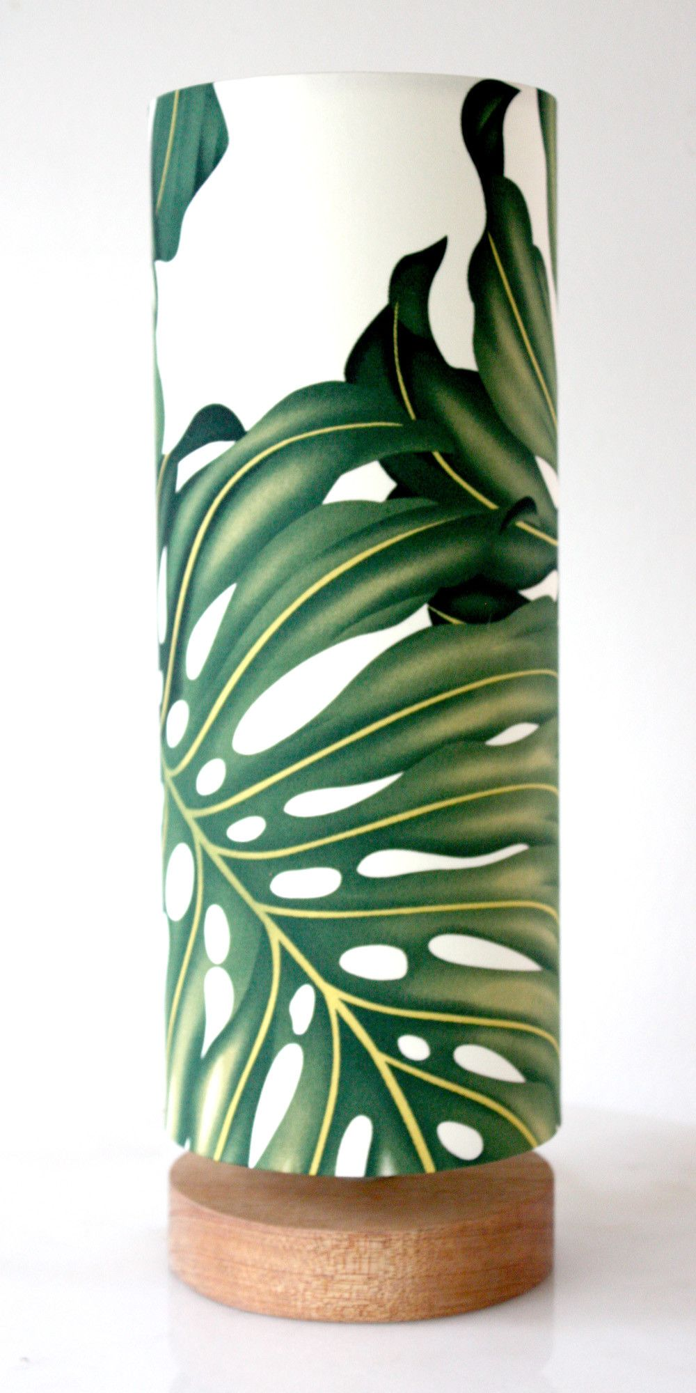 monstera leaf table lamp Tropical table lamps, Bamboo