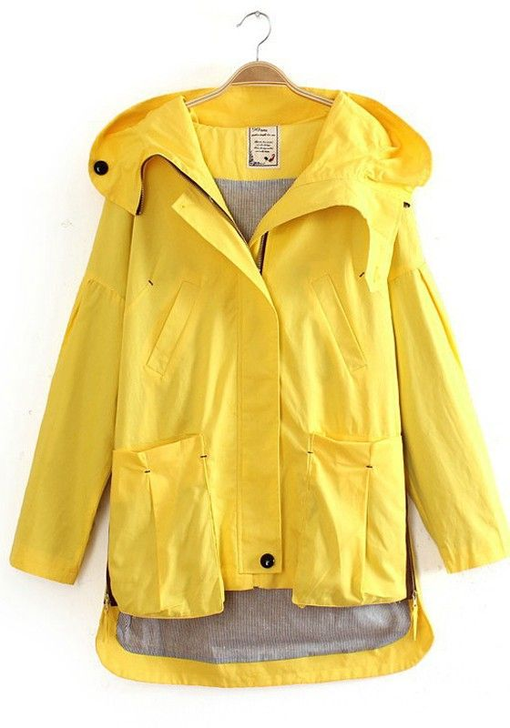 This sunny yellow jacket would turn your :-( upside down :-) on