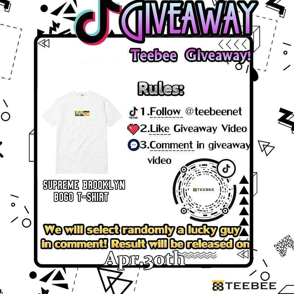 Teebee Tiktok Apr Week4 Giveaway Follow Teebeenet On Tiktok Like Giveaway Video Comment Winner Post On Apr 30th